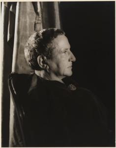 Carl Van Vechten (1880-1964). Gertrude Stein, November 4, 1934. Museum of the City of New York. 42.316.405