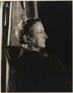 Carl Van Vechten (1880-1964). Gertrude Stein, November 4, 1934. Museum of the City of New York. 42.316.405
