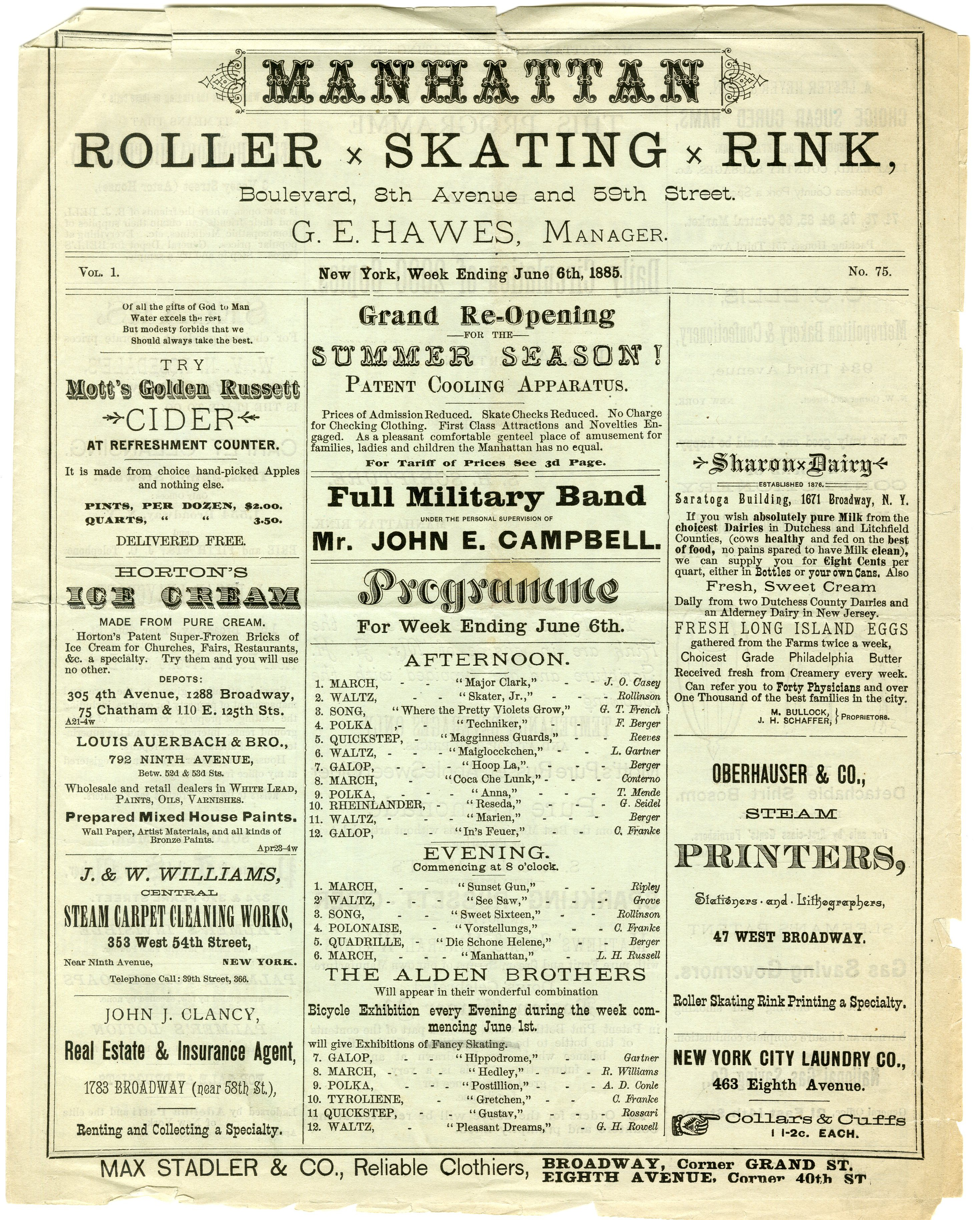 Roller skating rink westchester ny - Manhattan Roller Skating Rink 1885 In The Collection On Culture And Entertainment Museum