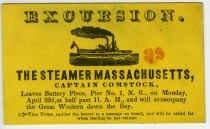Excursion, Steamer Massachusetts, ca. 1880, in the Collection on City Infrastructure.  Museum of the City of New York. 50.161.40