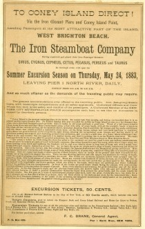 Iron Steamboat Company, 1883, in the Collection on City Infrastructure.  Museum of the City of New York. 54.252.2.