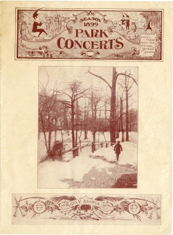 Park Concerts, Season 1899, in the Collection on Culture and Entertainment.  Museum of the City of New York. F2011.101.18.