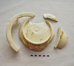 Chamber pot found in the almshouse privy.