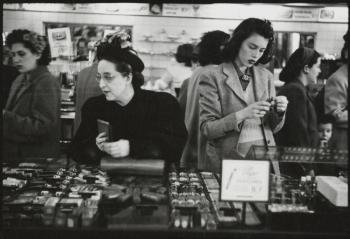 Stanley Kubrick for LOOK magazine, 1947. The 5 and 10 [Women shopping at Woolworth's.]
