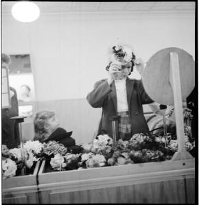 Stanley Kubrick for LOOK magazine, 1946. Women Trying on Hats [Woman trying on a hat in a department store.] ©SK Film Archives/Museum of the City of New York.