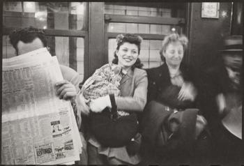 Stanley Kubrick for LOOK magazine, 1946. Life and Love on the New York City Subway [Passengers on a subway.]
