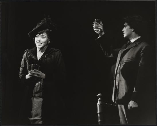 "Unknown. Betsy Joslyn as Nora and Peter Gallagher as Otto in ""A Doll's Life"".] 1982. Museum of the City of New York. 92.52.39.97"