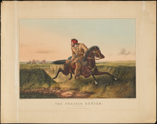 Print issued by N. Currier. The Prairie Hunter. Arthur Fitzwilliam Tait, 1852. Museum of the City of New York. 56.300.143