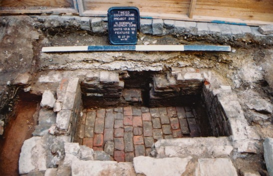 A cold storage shed built during the 18th century was excavated at Tweed Courthouse in 2000 and 2001 by Hartgen Archaeological Associates, Inc.