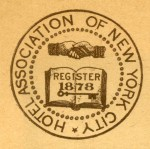 "Excerpt from ""Members of Hotel Association of New York City, Rates per Day,""ca 1940, in the Collection on Dining and Hospitality.  Museum of the City of New York."