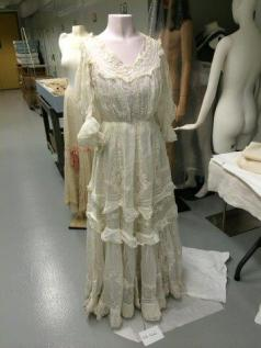 Elsie Whelen's lavishly embroidered 1906 white cotton mull dress