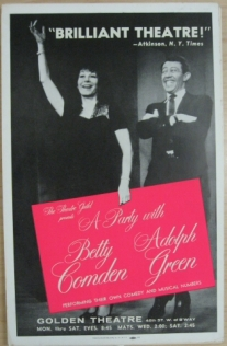 Window card for A Party with Comden & Green, 1958-1959. Museum of the City of New York, 68.100.241.