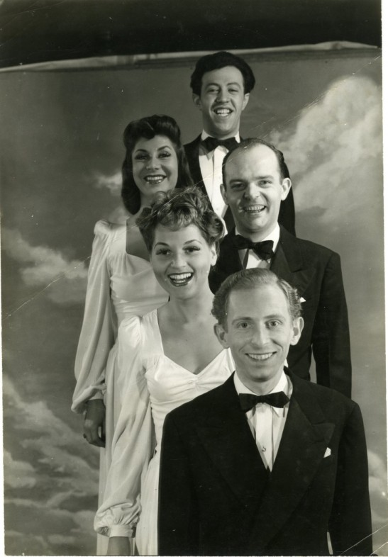 Unknown. [The Revuers: Adolph Green, Betty Comden, John Frank, Judith Tuvim, Alvin Hammer.] ca. 1943. Museum of the City of New York. F2014.45.4.