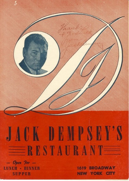 Jack Dempsey's Restaurant, 1956, in the Collection on Dining and Hospitality. Museum of the City of New York. 85.55.1.