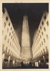 Samuel H. Gottscho, New York City views. RCA Building floodlighted, 1933. Museum of the City of New York, 88.1.2.2267.