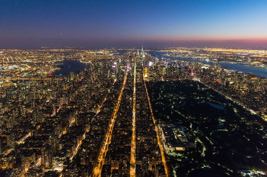 Aerial view, Manhattan