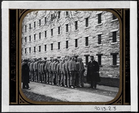 Blackwell's Island. The Lock-step Penitentiary.