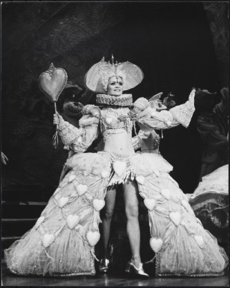 "Martha Swope. [Unidentified actress in ""Follies"".] 1971-1972. Museum of the City of New York, 92.52.26.42."