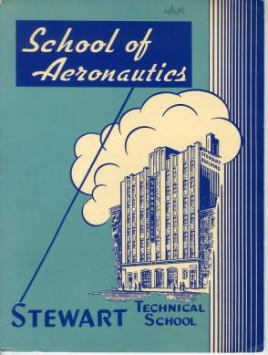 School of Aeronautics, Stewart Technical School, 1940, in the Stewart Technical School collection.  Museum of the City of New York, 1940.