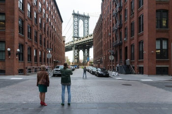 Washington Street with Manhattan Bridge, 2014. Photo by Iwan Baan for the Museum of the City of New York