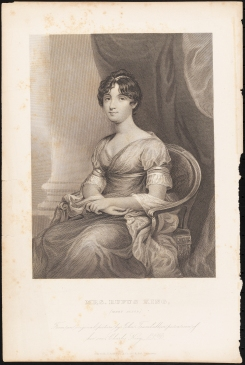 Print issued by D. Appleton and Company. Mrs. Rufus King (Mary Alsop). John Trumbull (1750-1831), ca 1840 -1880. Museum of the City of New York. F2012.56.152.