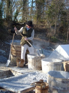 Experts at the Colonial Williamsburg Brickyard produced lime using 18th century techniques in 2009. Please follow this link to learn more: http://research.history.org/Coffeehouse/Blog/index.cfm/2009/3/4/Lime-Burn