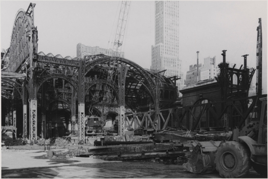 Demolition of Pennyslvania Station, 1964-65: Museum of the City of New York, Gift of Aaron Rose
