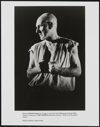 Michael Daniel. [Patrick Stewart as Prospero.] 1995. Museum of the City of New York. F2013.41.7355.