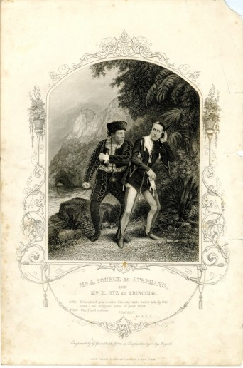 Mr. A Younge as Stephano and Mr. H. Nye as Trinculo, ca. 1848. John Tallis & Company, printer. Museum of the City of New York. Theatrical production files.