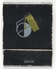 Studio 54 matchbook, ca. 1980, in the Collection on Culture and Entertainment. Museum of the City of New York. 2013.8.13.