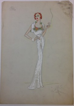 Mabel E. Johnston. [Unidentified production.] ca. 1925. Museum of the City of New York. Mabel E. Johnston drawings.