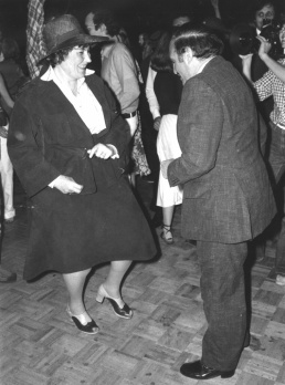 Photographer unknown. Portrait of Bella Abzug and Lester Persky dancing, 1977. Museum of the City of New York. 2002.1.1.82.