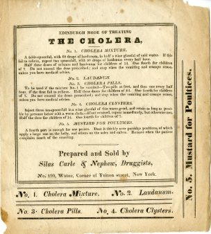 Edinburgh Mode of Treating the Cholera, ca. 1832, in the Collection on Infrastructure. Museum of the City of New York. 40.214.1
