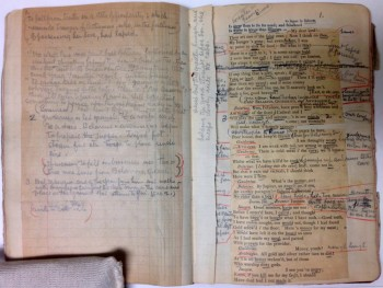 Act III, scene vi of Julia Marlowe's annotated Cymbeline. 1923. Museum of the City of New York. 43.430.632.