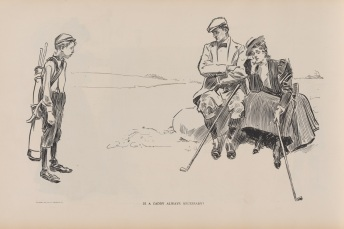 Is a Caddy Always Necessary? Copyright 1895, Life publishing company