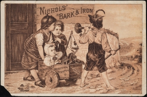 Printed by Donaldson Brothers (Firm). Nichols' Bark & Iron. ca. 1880. Museum of the City of New York. 43.234.33