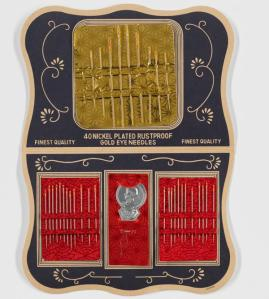 Foil wrapped needle set from the Bronx Amalgamated Housing Cooperative Supermarket, ca. 1955 - ca. 1970. Museum of the City of New York. 2015.10.1