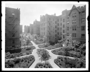 Wurts Bros. (New York, N.Y.), Sedgwick Avenue and Gun Hill Road. Amalgamated Clothing Workers Apartments, 1929. Museum of the City of New York. X2010.7.1.6790