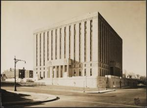Wurts Bros. (New York, N.Y.), 851 Grand Concourse. Bronx County Courthouse, 1934. Museum of the City of New York. X2010.7.2.5914