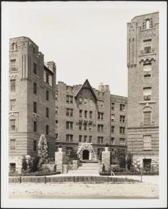 Wurts Bros. (New York, N.Y.), Sedgwick Avenue and Gun Hill Road. Amalgamated Clothing Workers Apartments, 1929. Museum of the City of New York. X2010.7.2.3463