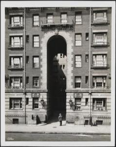 Phipps Residences. Detail of one arch, 331 East 31st Street