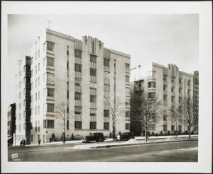 Wurts Bros. (New York, N.Y.), Grand Concourse and East 205th Street, northwest corner. Apartment building, 1937. Museum of the City of New York. X2010.7.2.7027