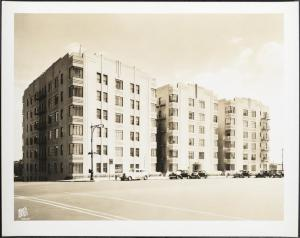 Wurts Bros. (New York, N.Y.), 750 Grand Concourse. Apartment building, 1938. Museum of the City of New York. X2010.7.2.7586