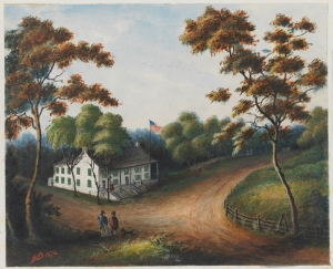 James Ryder Van Brunt (1820-1916). Valley Grove Tavern, Entrance to Port Road, Prospect Park, Brooklyn. 1876. Museum of the City of New York. 45.269