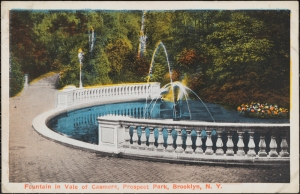 Fountain in Vale of Cashmere, Prospect Park, Brooklyn, N. Y. ca. 1910. Museum of the City of New York. F2011.33.776