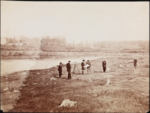 Photographer unknown. Surveying Prospect Park. ca. 1865. Museum of the City of New York. X2010.11.7845