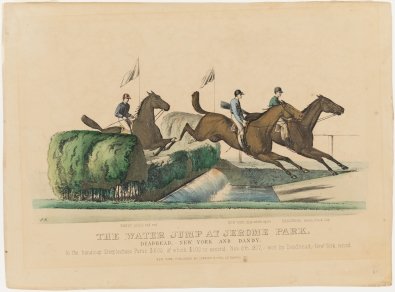 Print Issued by Currier & Ives. The Water Jump at Jerome Park, ca.1877. Museum of the City of New York, 57.100.83.
