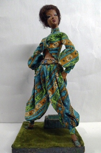 Ruby Bailey Doll: Turquoise Patterned Harem Pant with Matching Top 2004.41.29