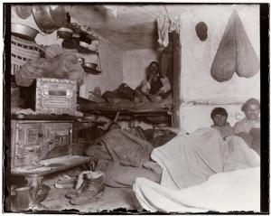 "Jacob A. Riis. [Lodgers in a crowded Bayard Street tenement - ""Five cents a spot.""], ca. 1890 Museum of the City of New York. 2008.2.8"