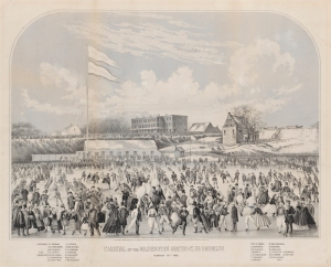 Lithograph issued by G. E. Jones. Carnival of the Washington Skating Club, Brooklyn. February 10th, 1862. Museum of the City of New York. 47.89